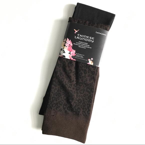 925fa1e7ed8 Fleece lined knee high socks.
